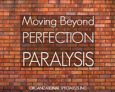 Perfection Paralysis: Organizing Better Solutions